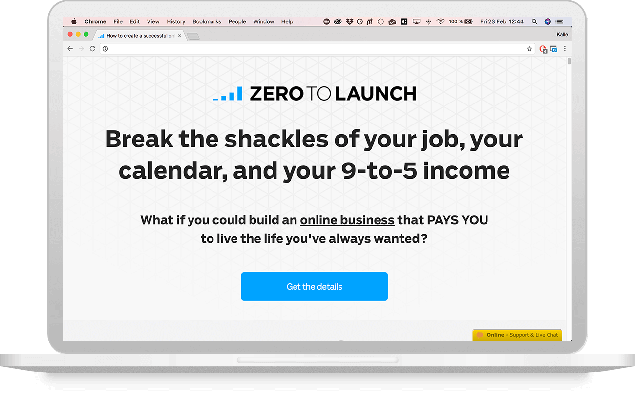 Zero to Launch Sales Page